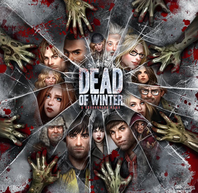 Dead Of Winter - Dead of Winter puts 2-5 players together in a small, weakened colony of survivors in a world where most of humanity are either dead or diseased, flesh-craving monsters. Each player leads a faction of survivors with dozens of different characters in the game.Dead of Winter is a meta-cooperative psychological survival game. This means the players are working together toward one common victory condition--but for each individual player to achieve victory, they must also complete their personal secret objective. This secret objective could relate to a psychological tick that's fairly harmless to most others in the colony, a dangerous obsession that could put the main objective at risk, a desire for sabotage of the main mission, or worst of all: vengeance against the colony!