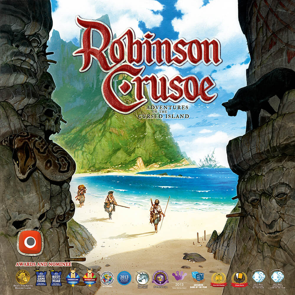 Robinson Crusoe: Adventure on the Cursed Island - An adventure game for you and your friends to play as castaways on an uninhabited island. Your task is to build a shelter, ward off potential dangers, and complete the missions. There are seven different scenarios included in the box - they will provide you with new, more difficult, and curious ways to play!