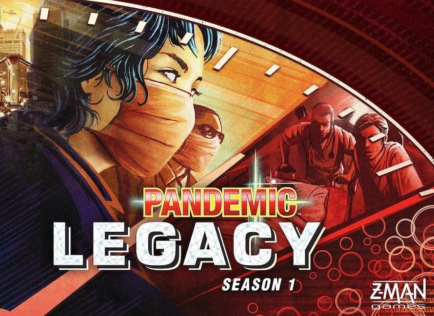 Pandemic Legacy: S1 - RELEASED: 2015Pandemic Legacy is a co-operative campaign game, with an overarching story-arc played through 12-24 sessions, depending on how well your group does at the game. At the beginning, the game starts very similar to basic Pandemic, in which your team of disease-fighting specialists races against the clock to travel around the world, treating disease hotspots while researching cures for each of four plagues before they get out of hand.