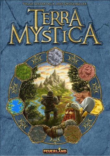 Terra Mystica - RELEASED: 2012Terra Mystica is a game with very little luck that rewards strategic planning. Each player governs one of the 14 groups. With subtlety and craft, the player must attempt to rule as great an area as possible and to develop that group's skills. There are also four religious cults in which you can progress. To do all that, each group has special skills and abilities.