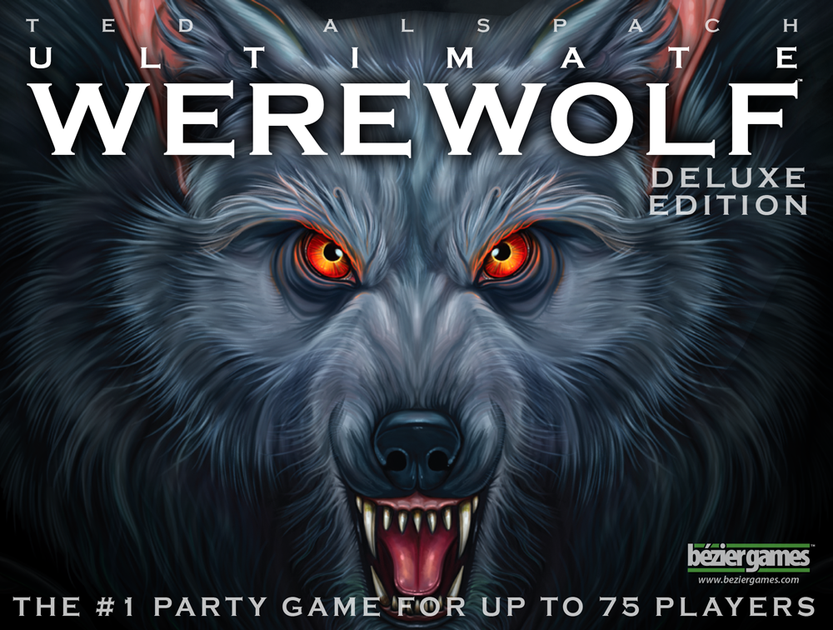Ultimate Werewolf - PLAYERS: 5 - 75Ultimate Werewolf is similar to a large group game you may have played in the past called Mafia. One person is selected to moderate the game and all other players are given a secret role card that determines if they are a werewolf or a villager. On the card, players will also have unique abilities or rules that must adhere to throughout the game.Each round consists of the