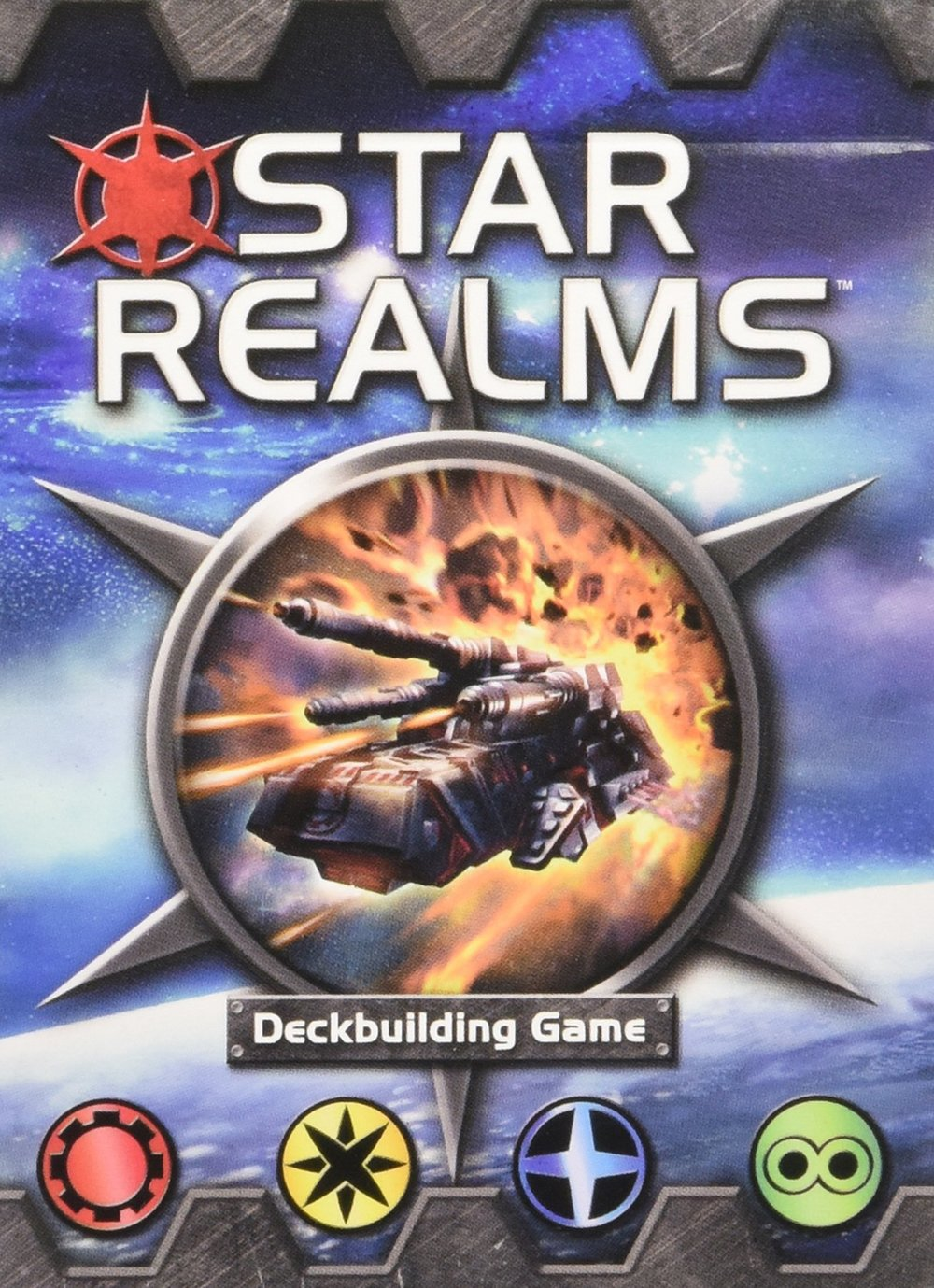 Star Realms - Star Realms is an amazing two-player deck builder that is fast paced and extremely easy to learn. Deck building games allow you to accumulate cards that you can replay throughout the game, typically structured in a way where better cards can be purchased/earned as time goes on.The first time I played this game, I couldn't get enough of it and I immediately wanted to buy it for myself. At such a low cost, this game is a must-have in everyone's collection.