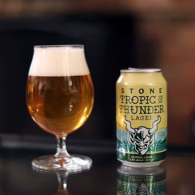 "@StoneBrewing's new #TropicOfThunder lager is a paradox in every way. The name, the label, the style (a ""tropical...lager""??) all scream self-contradiction. Is this beer flavorful and fruity, or crisp and clean? Powerful, or laid-back? Heavy or light? It's all of these things, really: a refreshing lager with a shocking amount of juicy flavor, thanks to Citra, Mosaic, and Cashmere hops -- the latter of which (a new variety) smells like cantaloupe. While crushing this brew, I'm listening to a band hailing from just south of Stone's headquarters in Escondido, CA, that plays with a similar level of absurdity: Goblin Cock's ""Come with Me If You Want to Live!"" is a fantastical, over-the-top heavy metal record masterminded by #LordPhallus (a.k.a Rob Crow of indie rock band Pinback). It's fast and slow; heavy and delicate; dead serious and seriously dumb. Fans of the Melvins will love this shit -- just as fans of tasty beer will love the brew. . #RhythmAndBooze #StoneBrewing #StoneBeer #StoneBrewingCo #StoneBrewingCompany #TropicOfThunder #Lager #HoppyLager #CraftLager #CraftBeer #GoblinCock #RobCrow #HeavyMetal #MetalAlbum #Metal #CashmereHops"