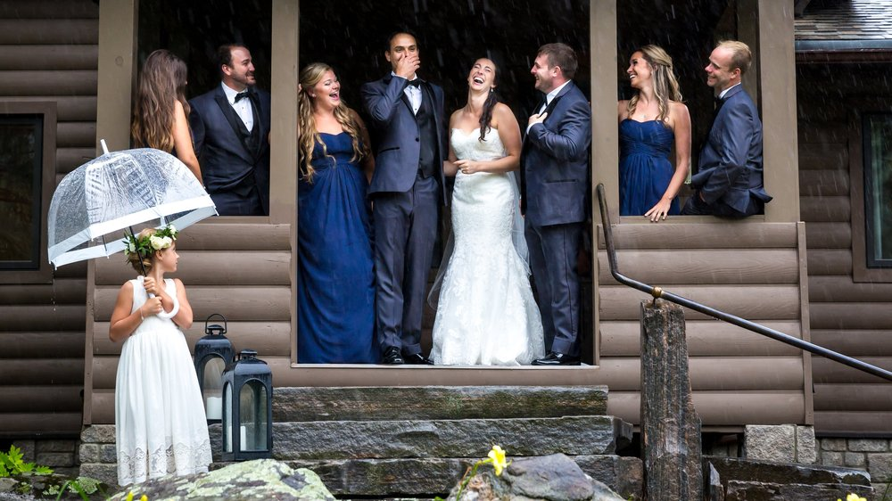 THE BRIDAL PARTY PORTRAITS - [ girls on one side, boys on the other... or not.]