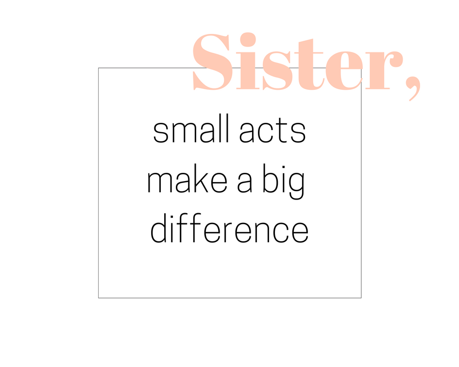 small action big difference