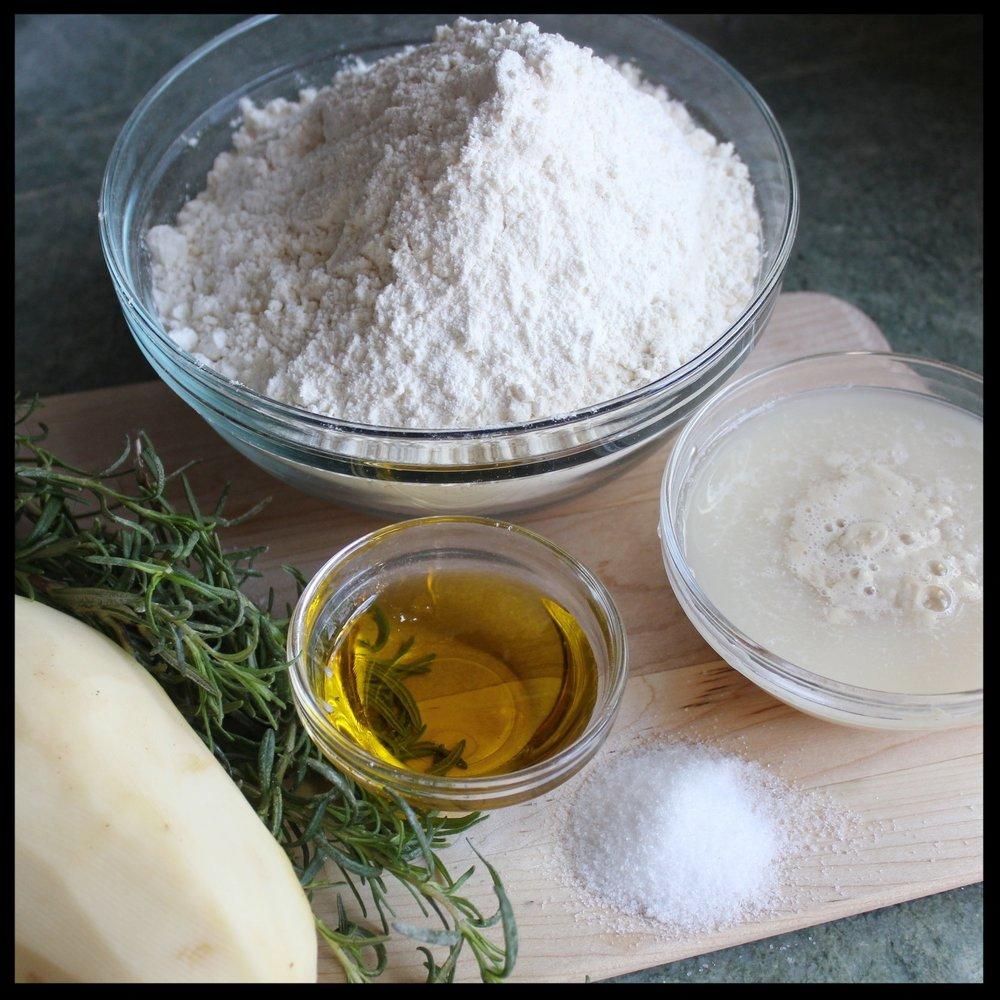 WHAT YOU NEED:   - mixer with dough hook  - bowl  - saucepot  - sheet pan  - sharp knife  - potato ricer or masher