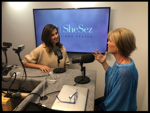 LINDA GRASSO  in action in the SheSez Studio