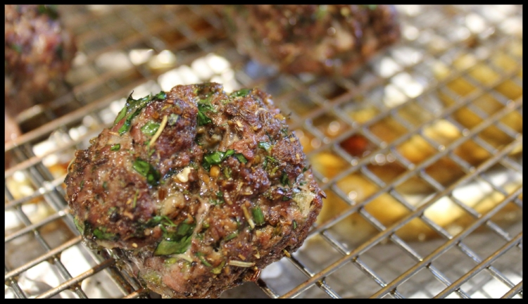 I love these lean, herbaceous meatballs - filled with mint, parsley and garlic and spiced with cumin and coriander, these are a perfect appetizer for your summer  mezze  platter, or can serve as a main course with a light tomato sauce and some pasta or rice. The best thing is, a pound of lamb goes a long way - and these meatballs are gluten and egg free!