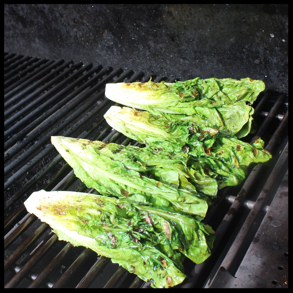 5.  Flip the romaine over and do the same for the other side.