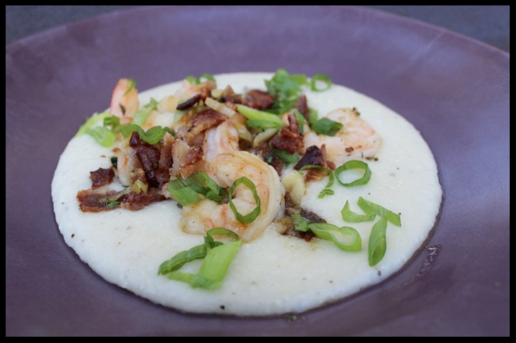 KIDDOCJJ's Shrimp and Grits (with bacon!)