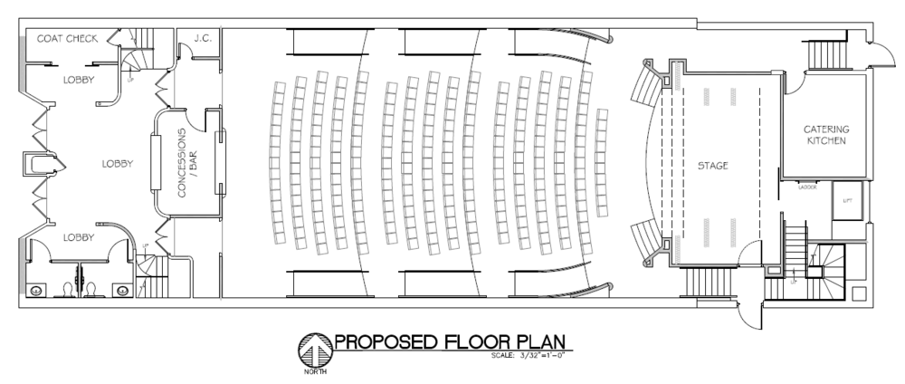 Theater / auditorium floorplan layout