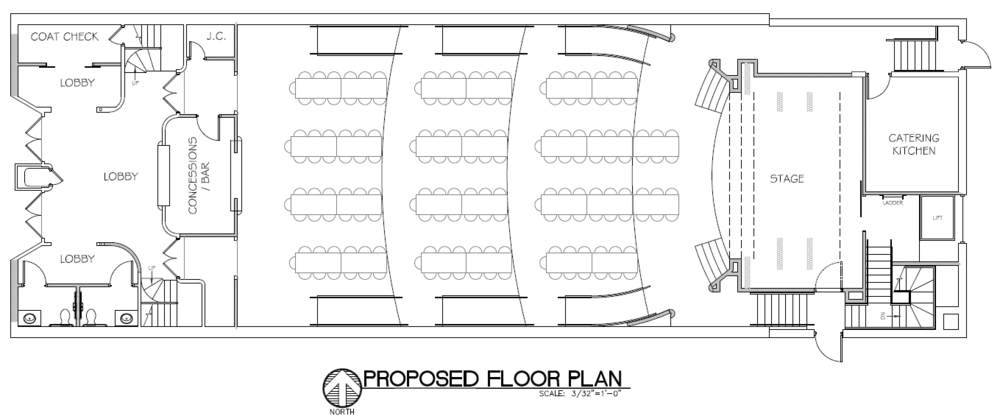 Banquet floorplan layout