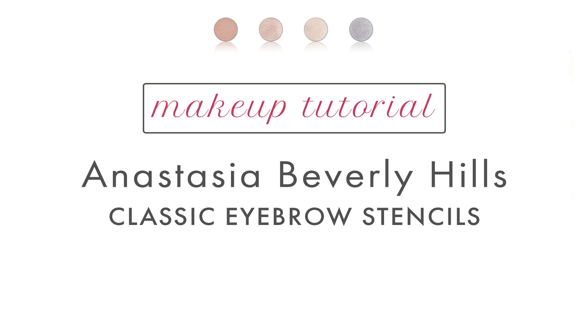 Anastasia Beverly Hills Classic Eyebrow Stencil Organic Natural