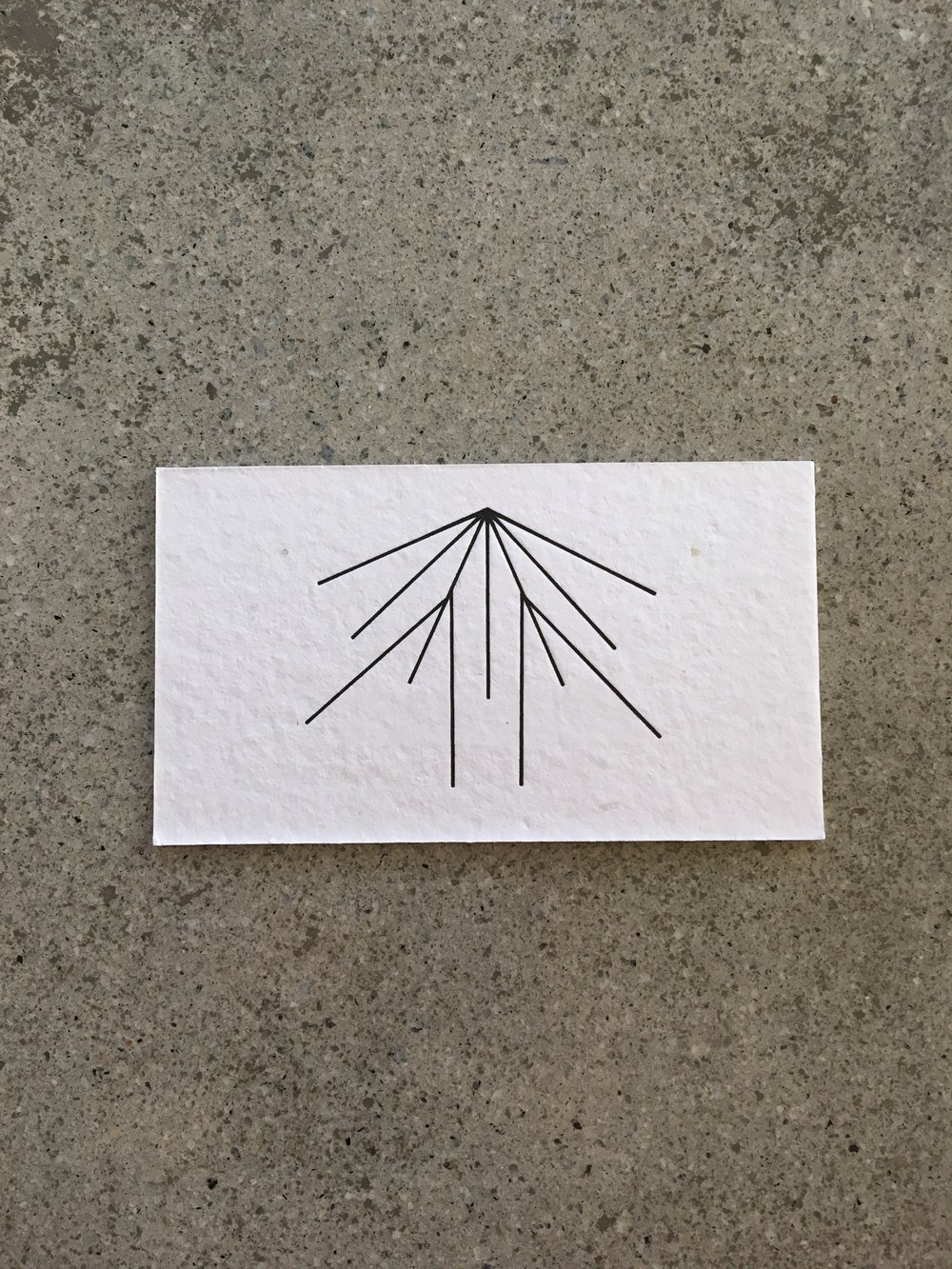 Air Air // letterpress business card (back)