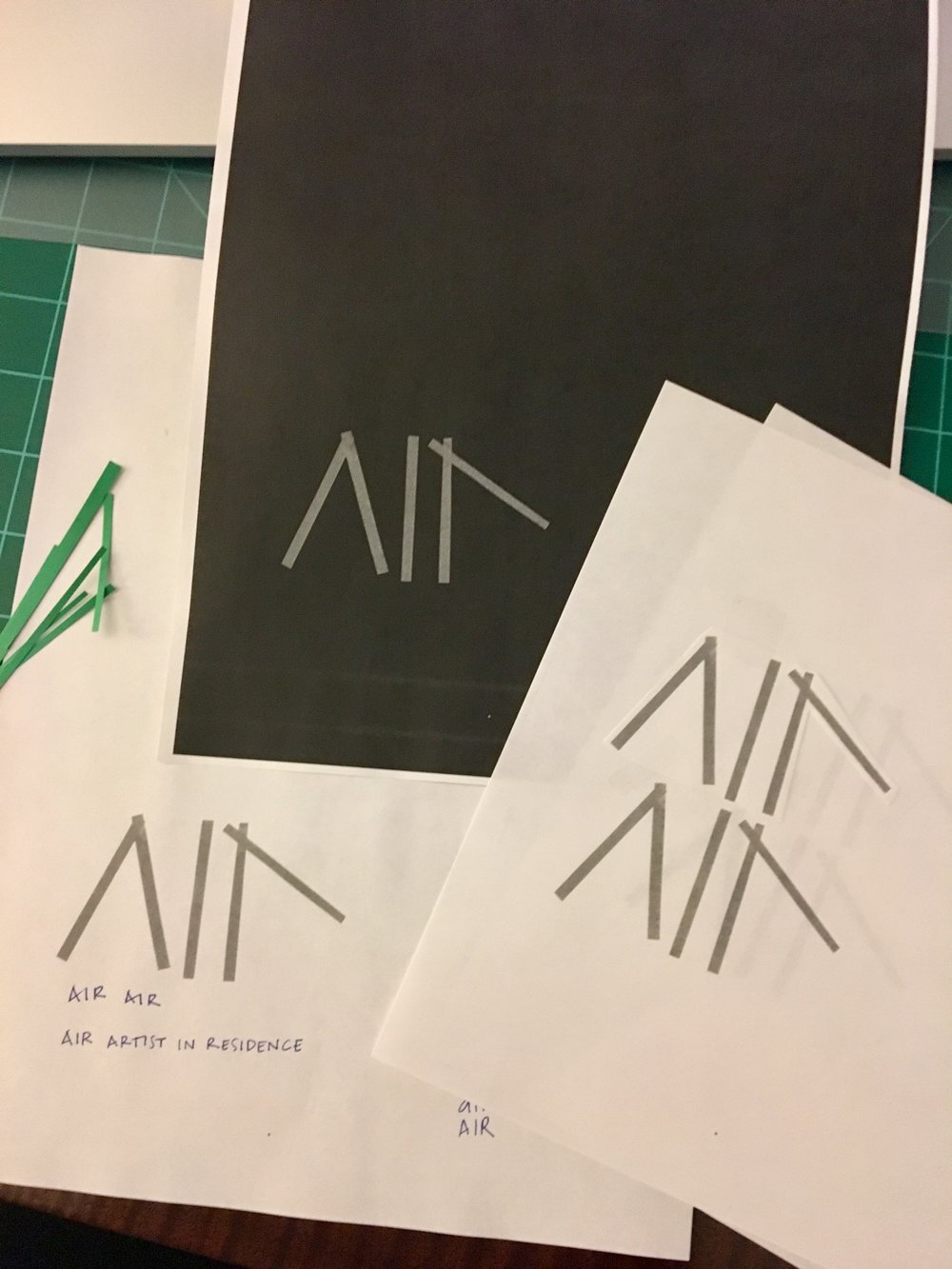 Air Air // logo development, in progress