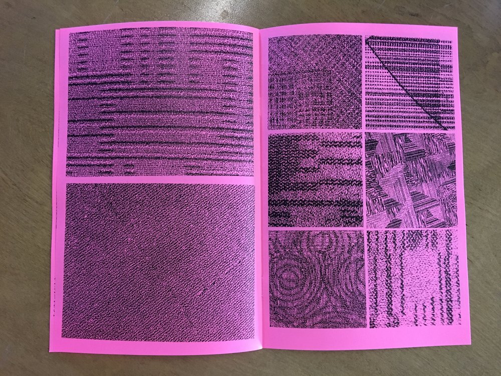 ALONE // Airport Carpet Zine: final book layout (inside spread)