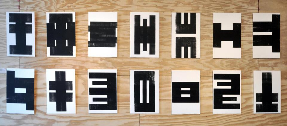 Exhibition at Las Manos Gallery // letterpress print installation (Chicago, Illinois)