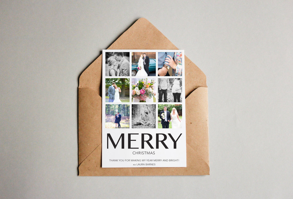 Laura Barnes Photography // client holiday card design
