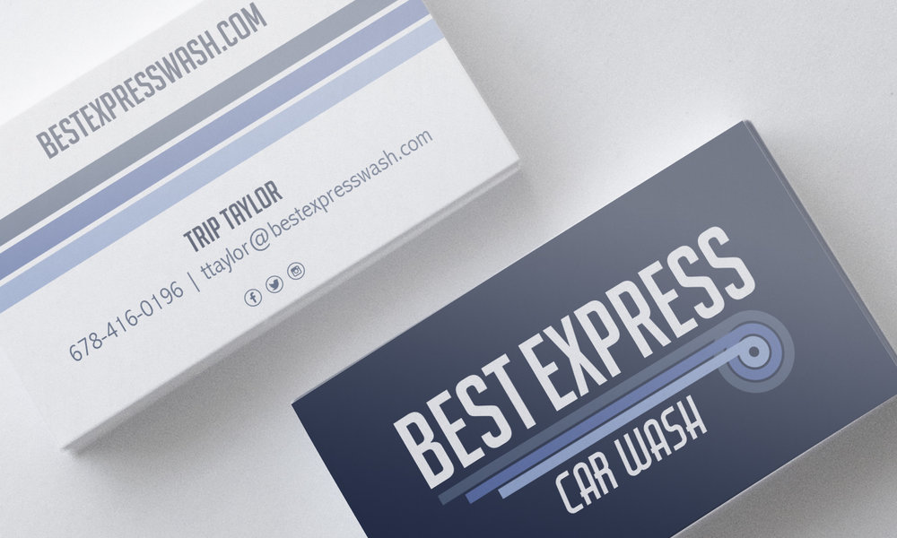 Best Express Car Wash // brand and logo design, business card design