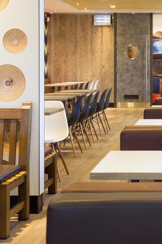 Interieurfotografie, McDonald's Mol