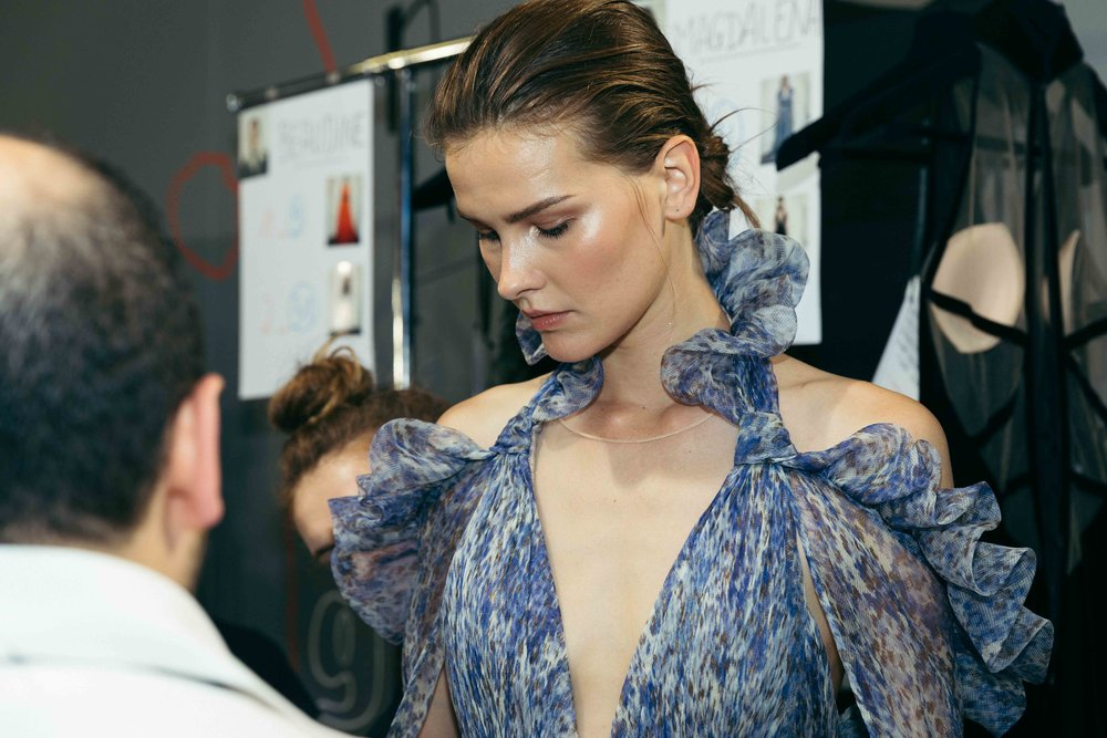 Lisa Verberght - Georges Chakra Backstage - Paris Fashion Week - Haute Couture Fa