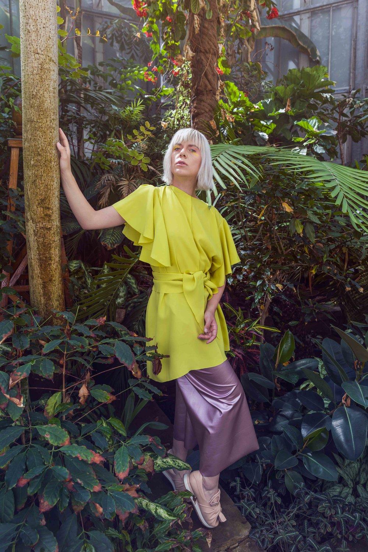 Elysian VPhotographer: Alexis BreugelmansModel: Chloë De WitteFashion designer: Ariadna MladenMake-up: Celine Dewit