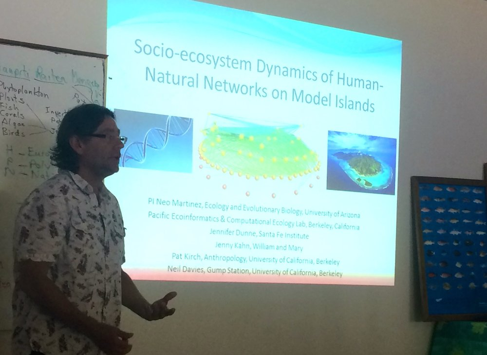 First presentation of the day by Dr. Neo Martinez,Associate Professor, Ecology and Evolutionary Biology, University of Arizona.