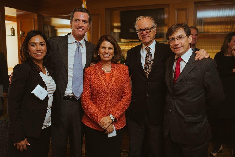CCC Board members and Lieutenant Governor of California, Gavin Newsom.