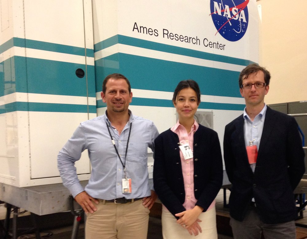 Visit at NASA Ames Research Center with CCC Executive Director Juan Ibañez and CCC Board member and leader of the Astronomy branch between Chile and California, Eduardo Bendek.