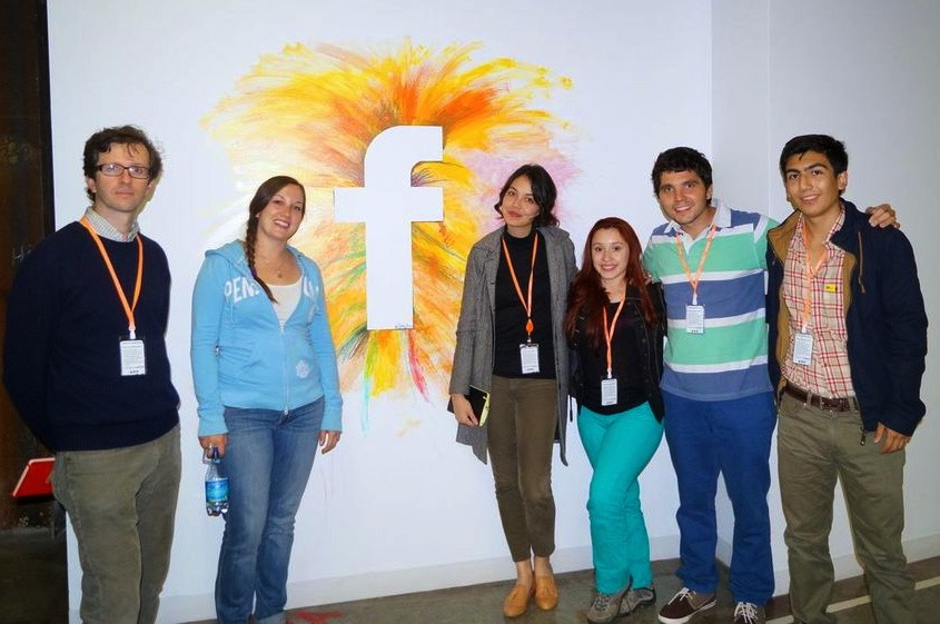 Visit at Facebook's headquarters with young Chilean high school entrepreneurs from remote areas in Southern Chile.
