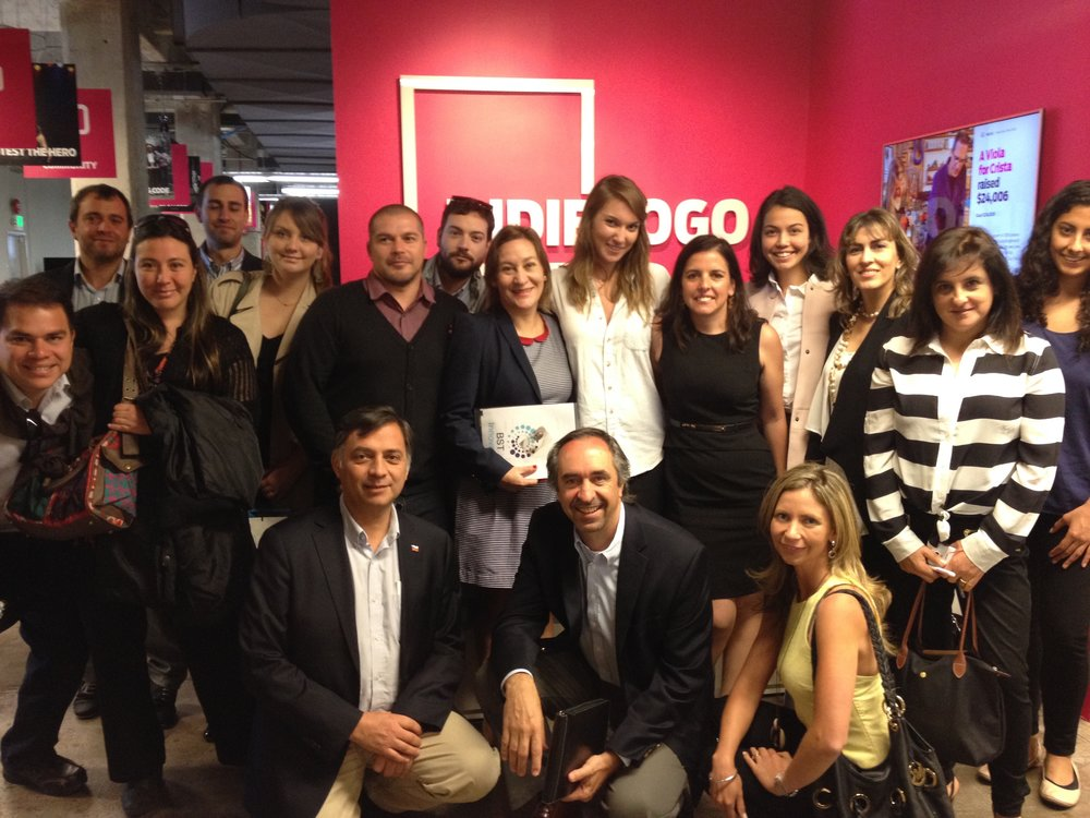 Visit of IndieGoGo with Chilean tech entrepreneurs as part of a week long Silicon Valley immersion program organized Barbara Silva, Santiago Director of Singularity University.