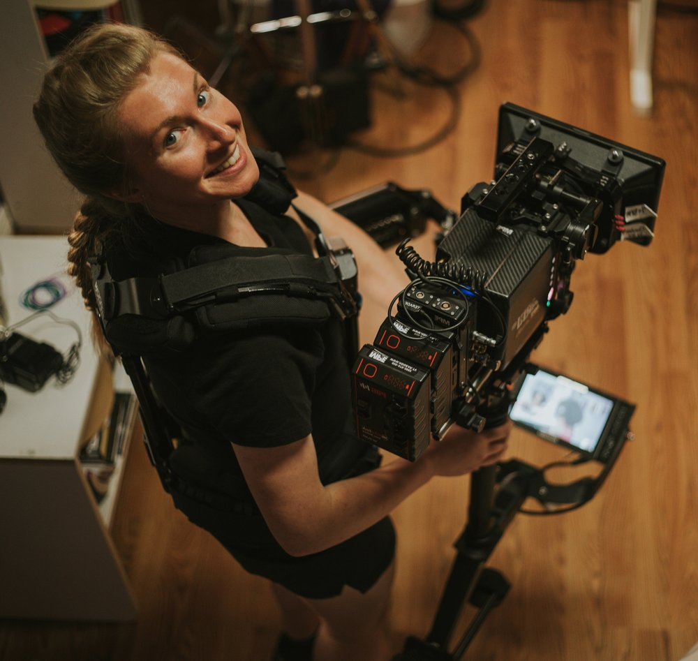 - Steadicam:Lisa Sene is a camera operator and Steadicam owner/operator who has worked on a variety of productions all over the country. After a good friend introduced Lisa to Steadicam, she quickly realized it was an intricate blend of creativity, mental focus, and kinesthetic coordination; a welcome challenge that keeps Lisa on her toes! All three of these elements must work in tandem for a shot to be executed well technically, while also visually matching the story. With a strong background in literary analysis, theatre, and cinematography, Lisa strives to create meaning behind each shot in order to stay true to the overall vision of the project. To see more of her work go to Lisasene.com