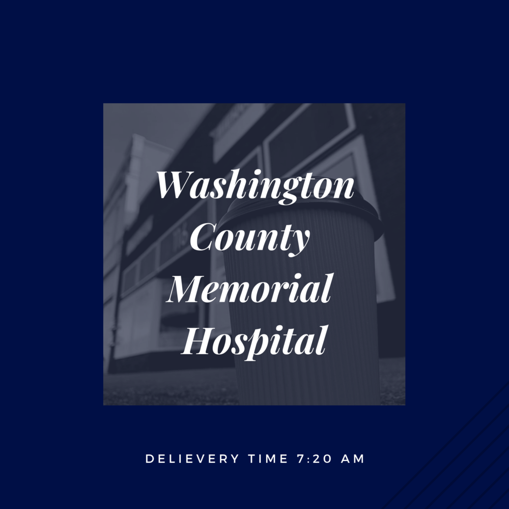 If you are an employee at Washington County Memorial Hospital, please click the picture above to place your order.    *Orders must be submitted before 8pm the evening before.