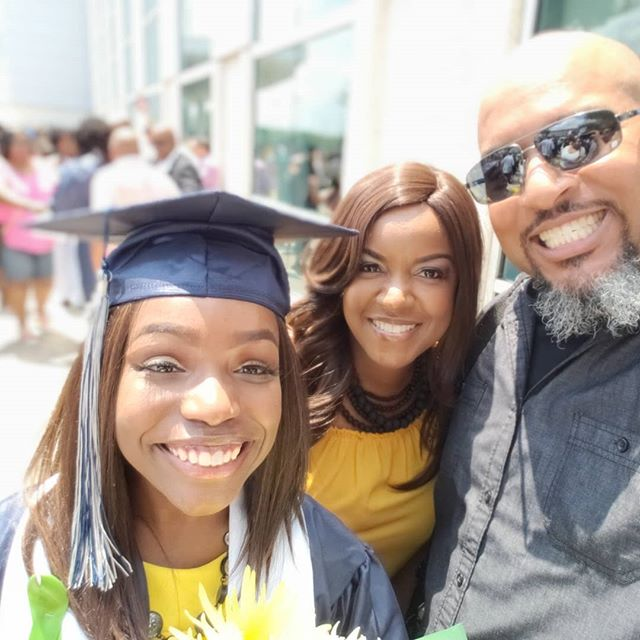 Our youngest daughter graduated high school today. Two more to go!  #manvelhighschool #manvelmajestics  @snipitsnclipits @jazminenicole_