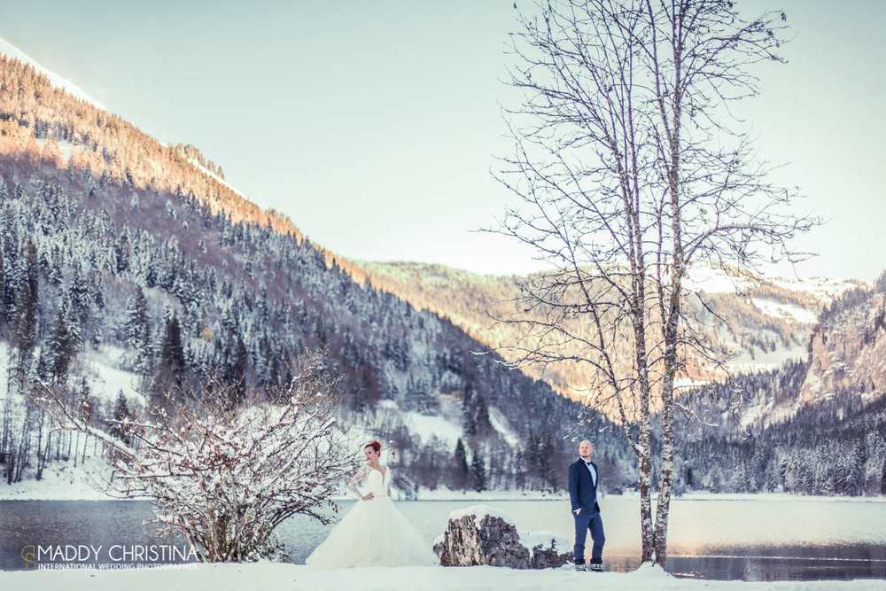 winter wedding mariage d'hiver avoriaz suisse switzerland
