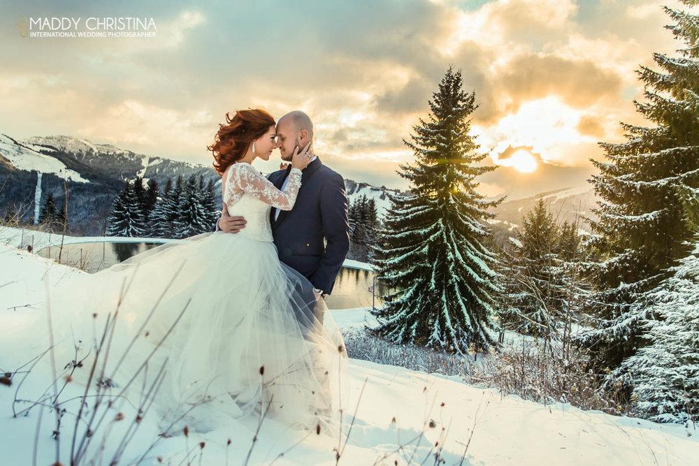 mariage avoriaz neige hiver winter