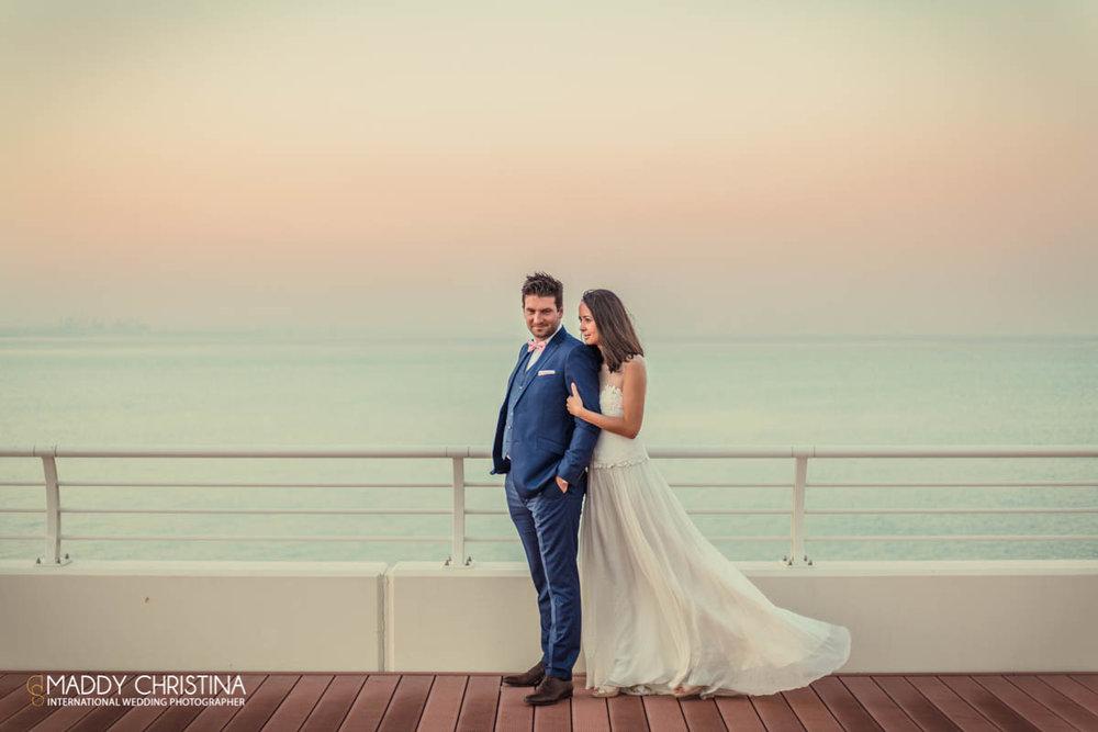 wedding mariage marriage dubai dubaï desert photograph photographer bride shoot the palm groom