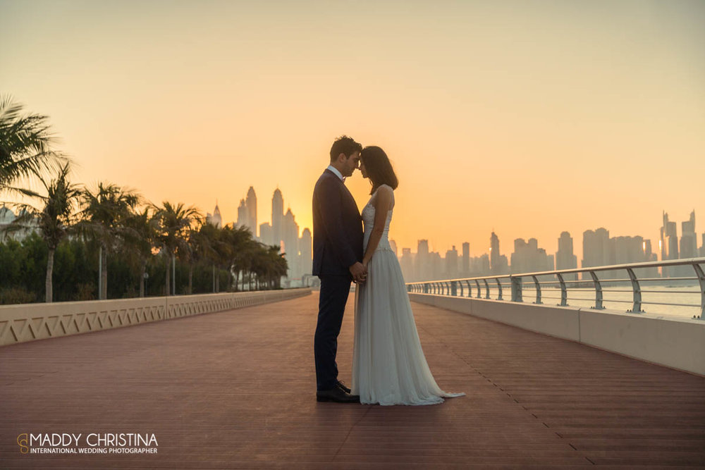 wedding mariage marriage dubai dubaï desert photograph photographer bride shoot the palm