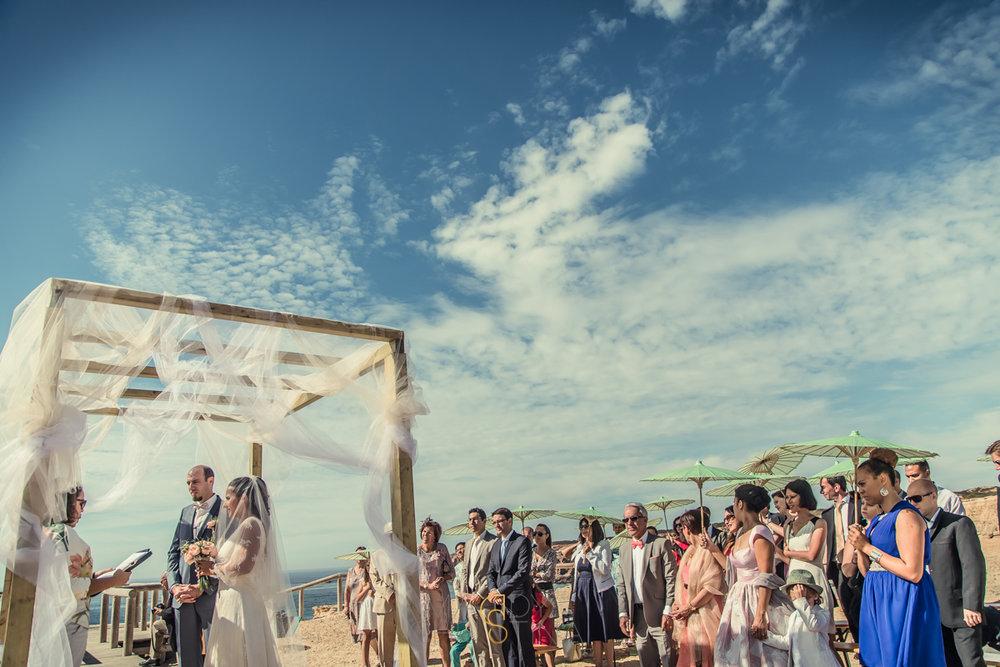 wedding outside cliff photographer