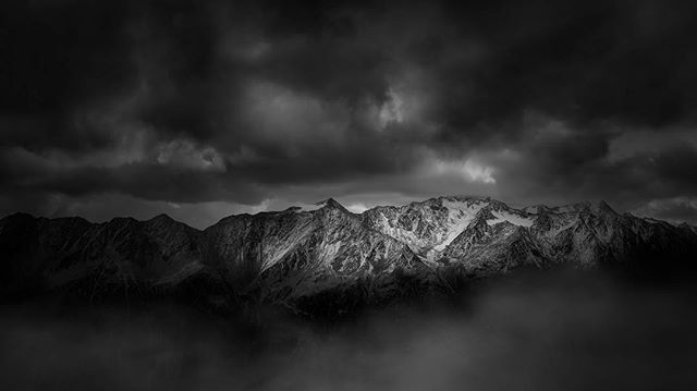 I'm always trying to create something different, something unique, and something that can make a viewer feel something.  And something that takes a powerful image and a powerful edit, and sometimes what I end up with, isn't what I wanted to begin with, but somehow it makes sense when I'm done working on it.. This is another one from the alps, using a @canonnordic 5D iv and my trusty @formatthitech filters