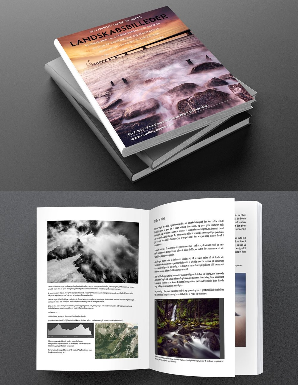 "Get my E-book - If you feel like learning a little bit about landscape photography, how to compose a great image, and maybe be inspired to go out and photograph yourself, this book is perfect for you.I write about settings, light, composition, seasons and weather :) And how to create unique images in more ""simple"" locations.The book is in danish, but hopefully I get a chance to write one in English to in the near future.Click on the button below to go to the store."