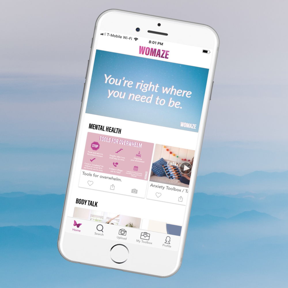 Mindfully scroll through curated channels on self-care, mental health, body image, relationships, and more.