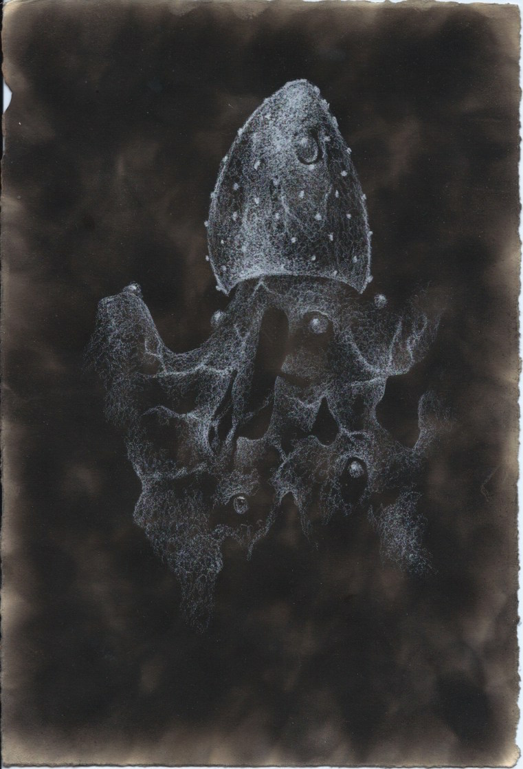 Drifter (Soot Drawing)
