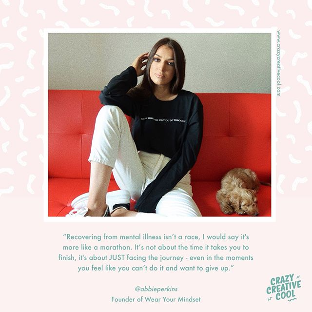 "〰 ""Recovery from mental illness isn't a race, I would say it's more like a marathon. It's not about the time you finish, it's about JUST facing the journey - even in the moments you feel like you just can't do it and want to give up."" 〰⁣ ⁣ @abbieperkins has bravely shared her struggle with #emetophobia with us! ⁣ ⁣ If you've struggled with mental health issues you can probably relate to the feelings of isolation Abbie talks about in her story. She tells us all about how this phobia controlled her life, how she lost friends and even had to leave uni. Click the link in our bio to read more about what it's like living with an invisible illness, and having a phobia of a bodily function. Abbie also describes how acceptance helped her to get on a healing path and gives some tips for other sufferers! ⁣ ⁣ Do you suffer with an invisible illness or phobia that takes over your life? Have you overcome or managed to control one? Want to share your story to raise awareness or inspire others? We'd love to talk to you! Drop us an email to hey@crazycreativecool.com⁣ ⁣ ⁣ ⁣ 〰⁣ Note: You can find professional mental health support and resources for Emetophobia here: https://www.ocduk.org/related-disorders/emetophobia/⁣ ⁣ ⁣ ⁣ ⁣ ⁣ --------------------------------------------------------⁣ #mentalhealth #emetophobia #mentalhealthawareness #mentalillness #anxiety #depression #ocd #recovery #inspiration #affirmations #quotes #quoteoftheday #positivity #healing #goals #inspire"