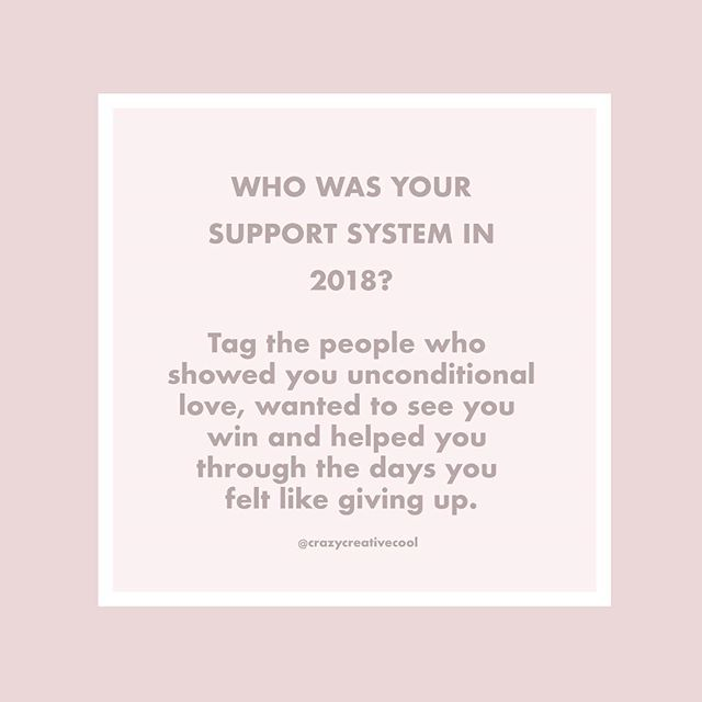 2018: Who were the people in your support system this year? ⁣ ⁣ Whether it was the best year of your life, mediocre or your hardest year yet - remember that every moment is building your strength to growth, healing and recovery. ⁣ ⁣ Tag the ones who have been there to support you through this journey in 2018. Let them know how much they are appreciated, even if they don't always understand exactly what you're going through. #2018 #healing #growth