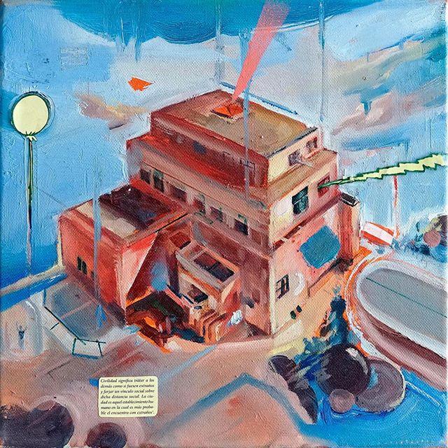 """""""Las Maravillas del Mundo I"""" de Jonathan Notario @notariojonathan @notariojonathan4011 para @eldevenir Art Gallery. Más información en nuestra web. 🚀💎 Fotografía cortesía de @malthius🎖 . . . . . . . . . . . . #eldevenir #eldevenirartgallery #galeríaeldevenir #mariarosajurado #jonathannotario #shortfilm #instafilm #cienciaficción #scify #oiloncanvas #landscape #spanishartist #clouds #sea #contemporaryart #draws #torremolinos #illustration #illustrateur #atlanta #sky #artinmalaga #artinspain #nyc #deco #decor #madrid #berlin #paris #東京"""