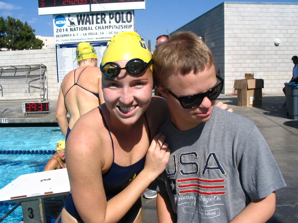 Michael and I at my first Collegiate Dual meet at UC San Diego, back in October of 2014.