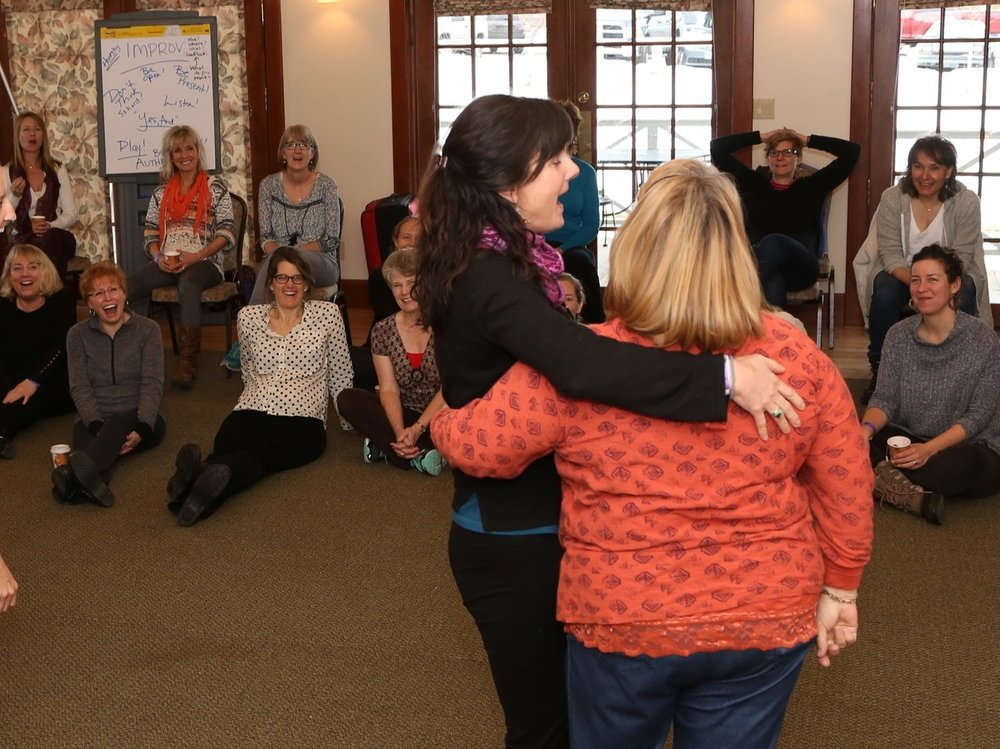 Katie Goodman leads women's workshops, women's empowerment workshops, and women's retreats focusing on improving confidence, connection and productivity.