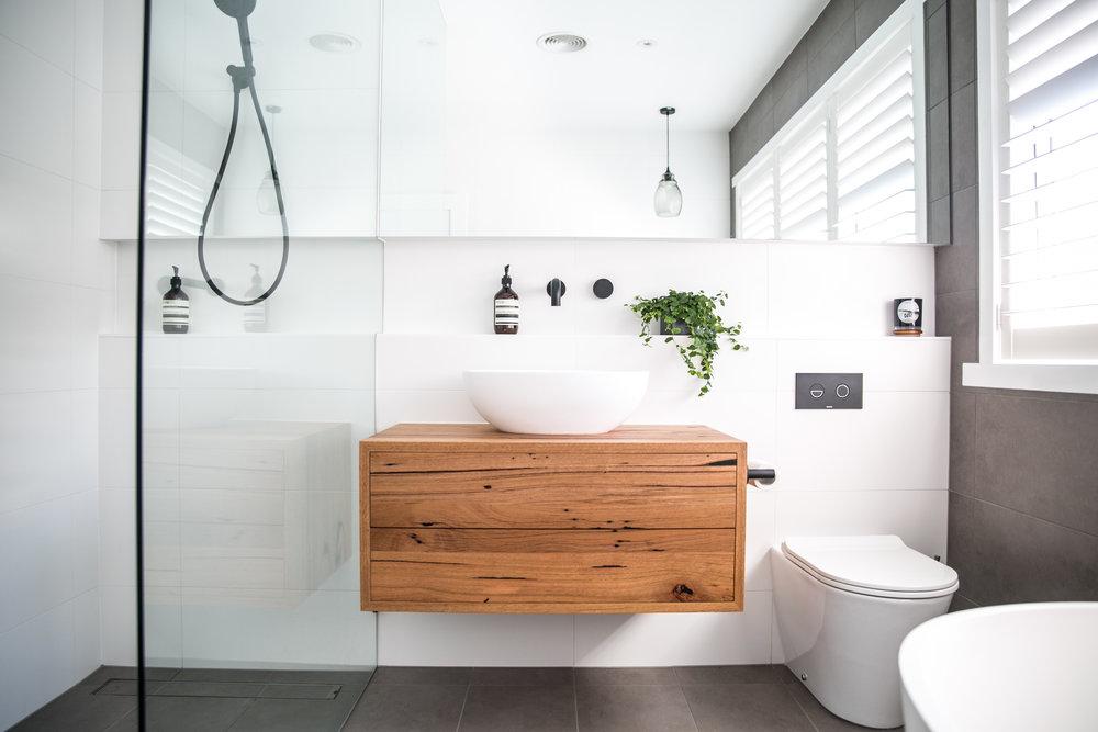 CUSTOM FURNITURE DESIGN | GEELONG | BATHROOM CABINETRY — Bespoke Timber  Design