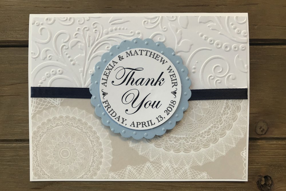 Wedding Thank You - What Are Your Wedding Colors?